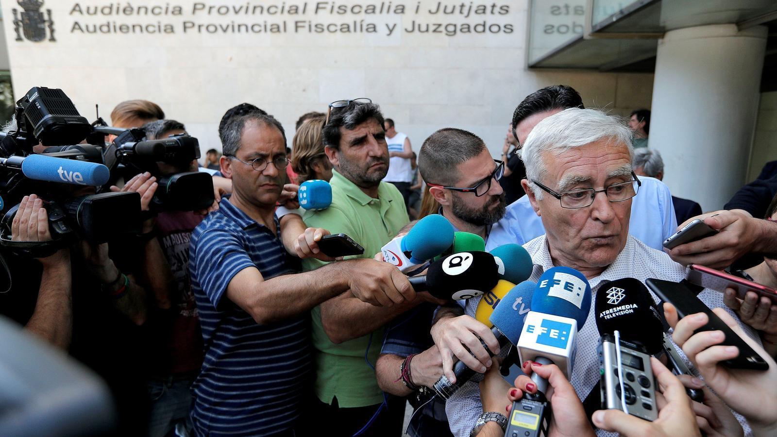 L'alcalde de València, Joan Ribó, després de declarar davant el jutge