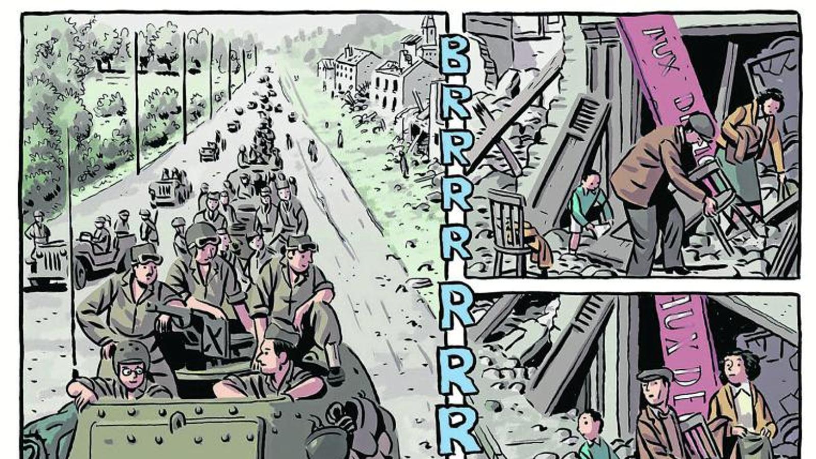 'Los surcos del azar', de Paco Roca: els soldats que van alliberar París