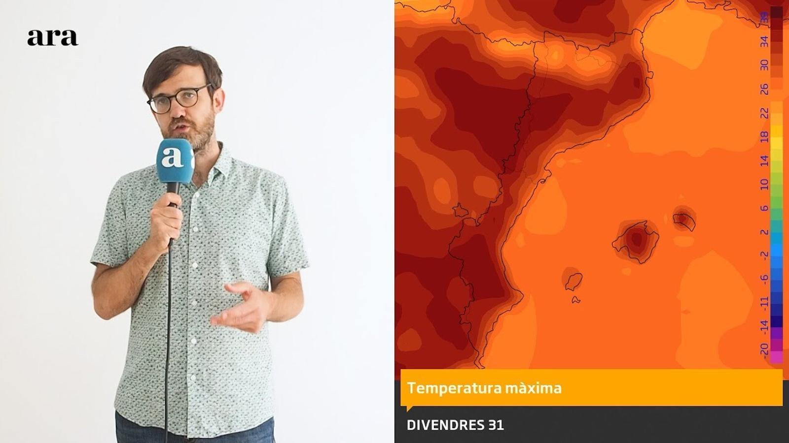 La méteo: els 40 graus tornaran divendres