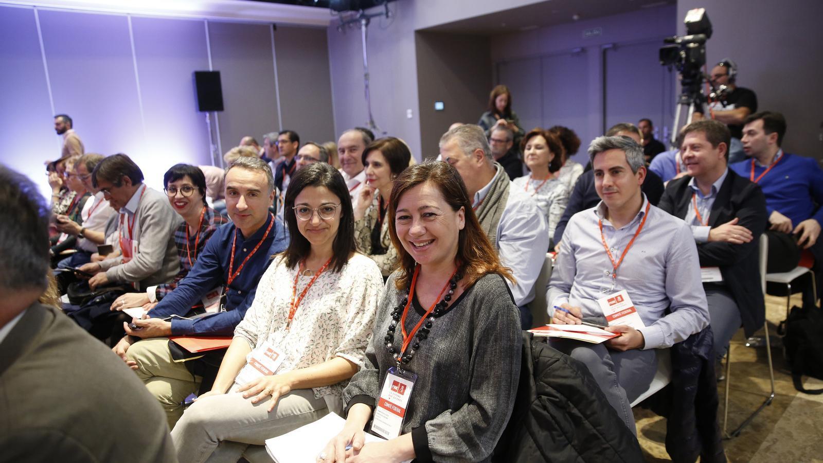 La secretària general del PSIB, Francina Armengol, en el Comitè Federal del PSOE.