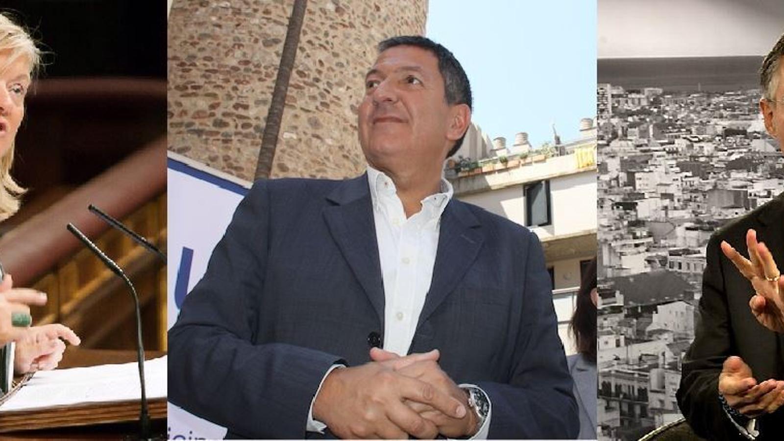 Els tres nous consellers del Govern: Àngels Ponsa (Cutura), Miquel Samper (Interior) i Ramon Tremosa (Empresa)