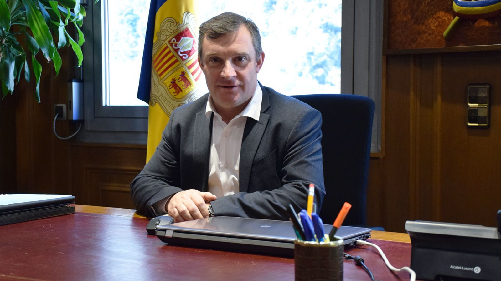 El cònsol major de Sant Julià de Lòria, Josep Majoral. / M. P. (ANA)