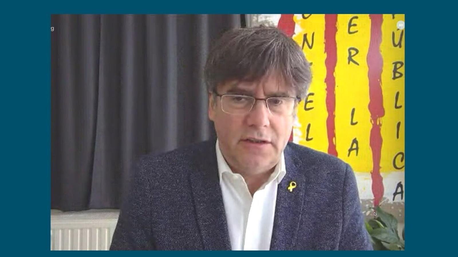 """Puigdemont: """"El 30 de gener, ja investit president telemàticament, sabíem com arribar a la Generalitat, ho teníem tot a punt"""""""