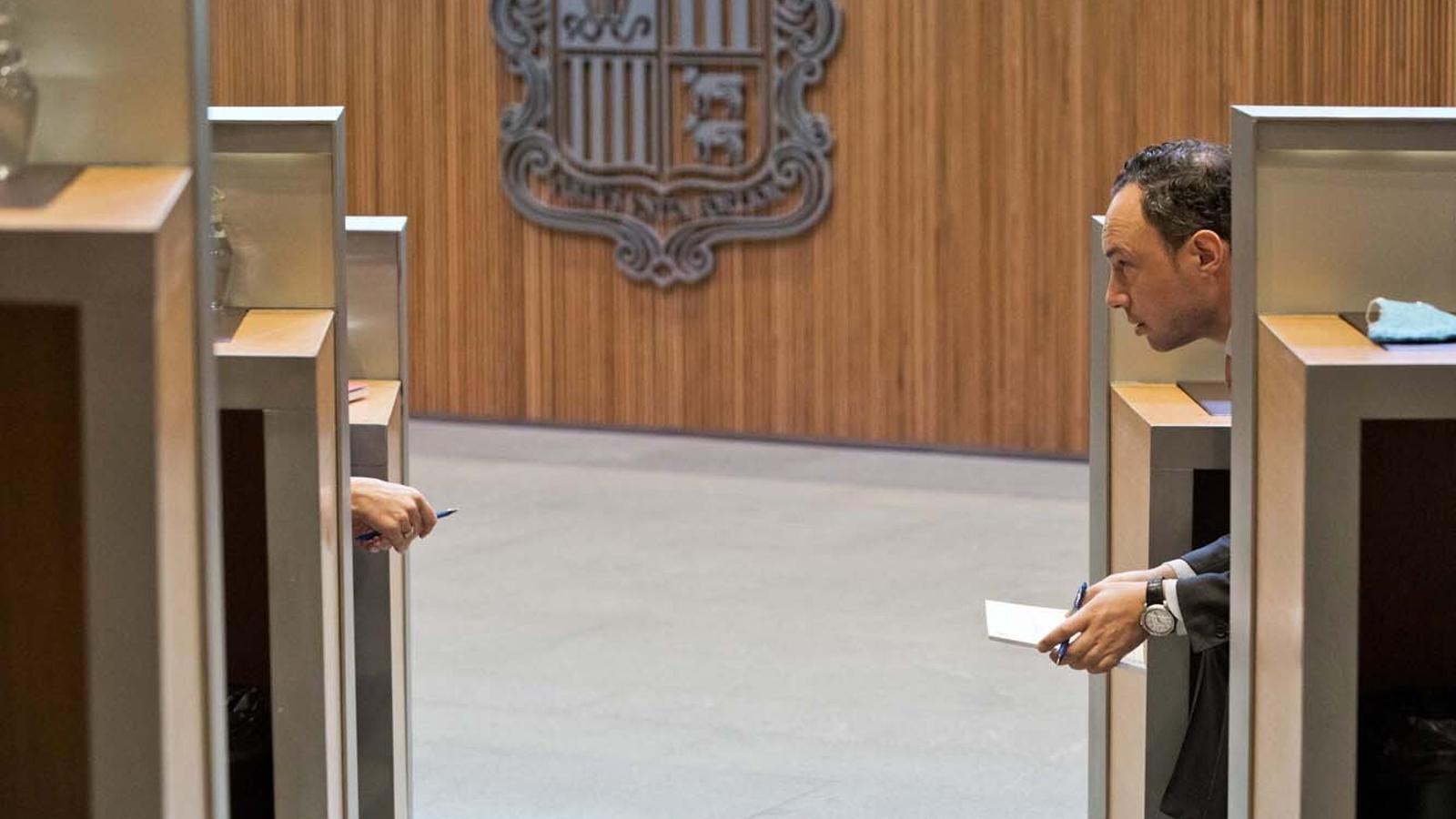 El cap de Govern, Xavier Espot, durant la sessió de Consell General. / CONSELL GENERAL (EDUARD COMELLAS)