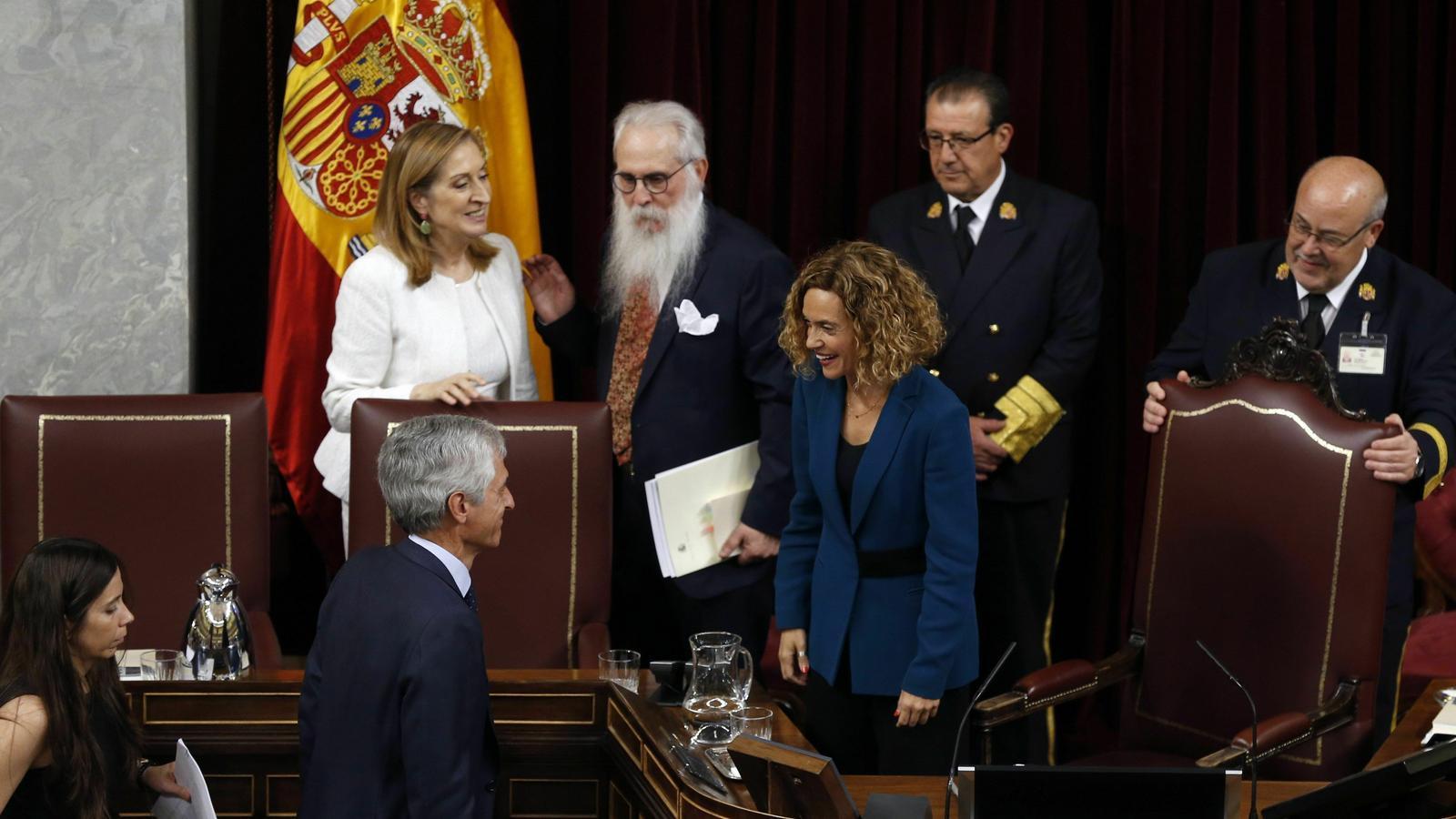 La nova presidenta del Congrés, Meritxell Batet, i el diputat del PP Adolfo Suárez Illana