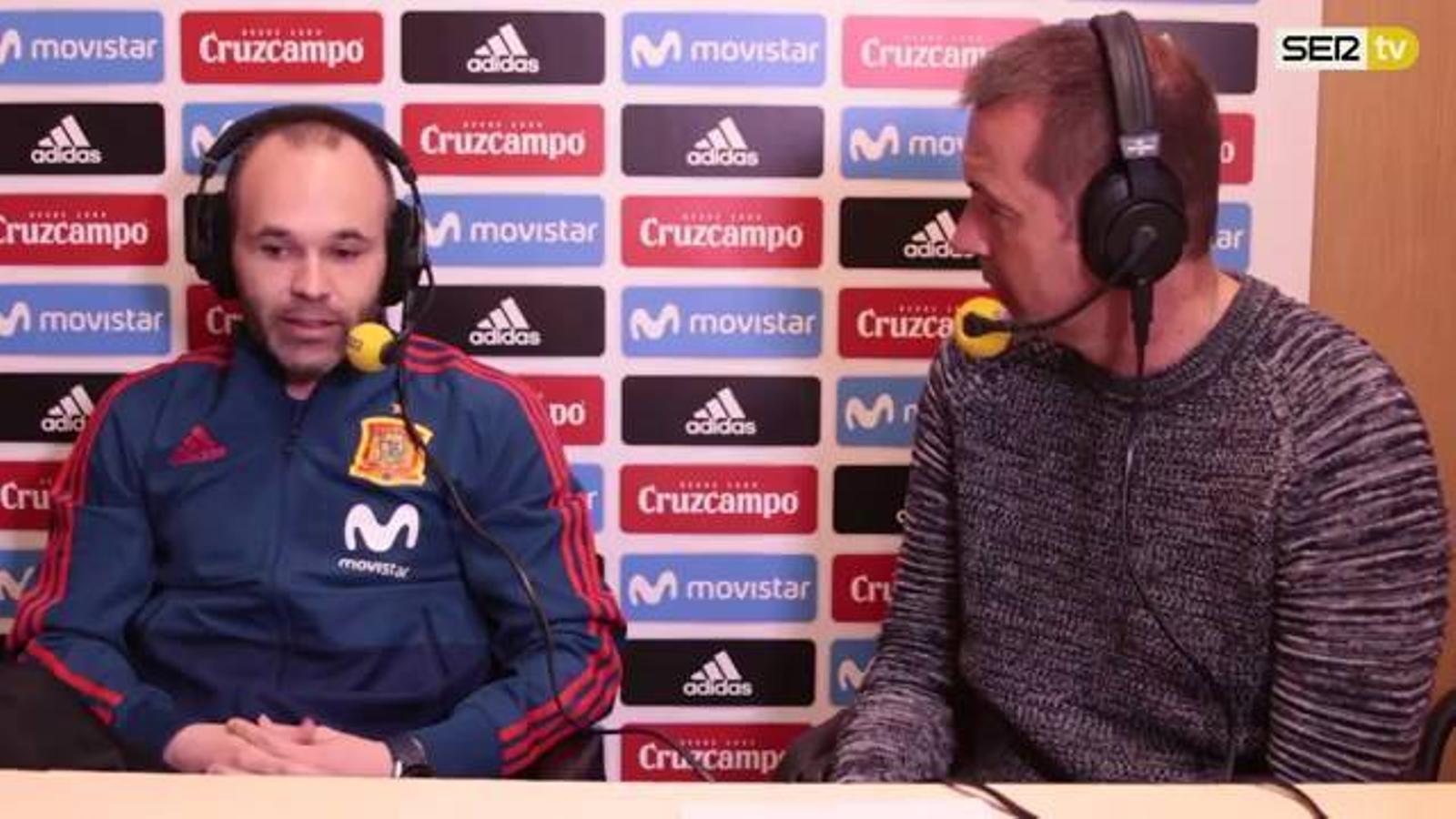 Andrés Iniesta, entrevistat a 'El Larguero'