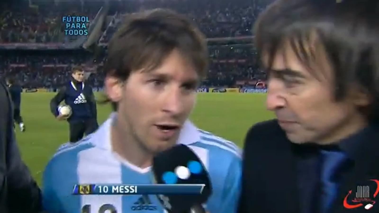 Messi, satisfet després del seu gran partit amb l'Argentina