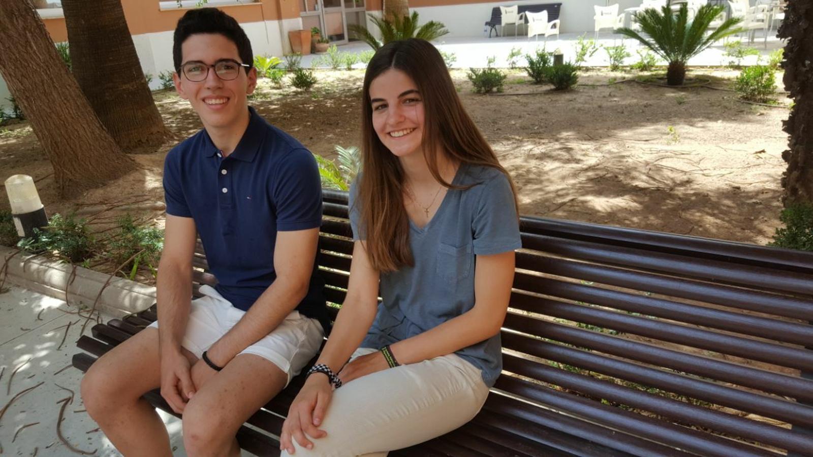 Miriam López i Tomeu Garau, els alumnes que han tret millors notes
