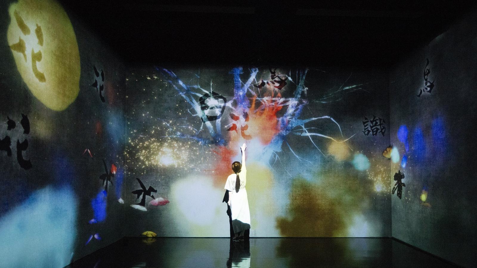 Les obres del col·lectiu japonès teamLab es transformen amb la intervenció del públic