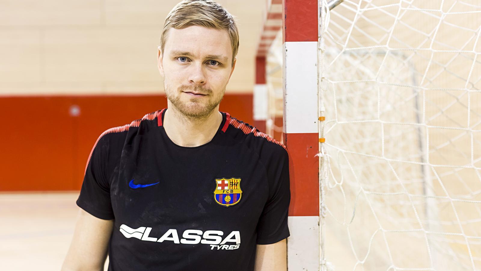El jugador del Barça Lassa d'handbol Aron Pálmarsson