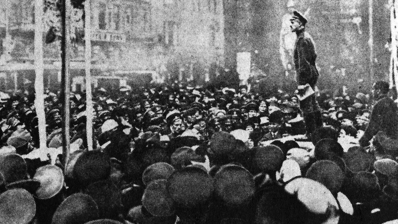 La població manifestant-se a Petrograd / GETTY IMAGES