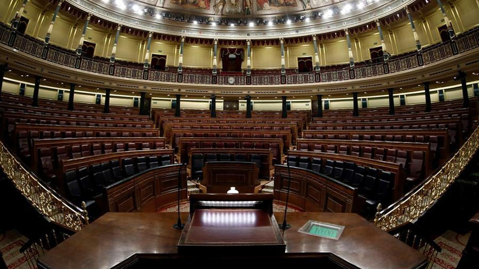 L'hemicicle del Congrés dels Diputats, en una imatge d'arxiu