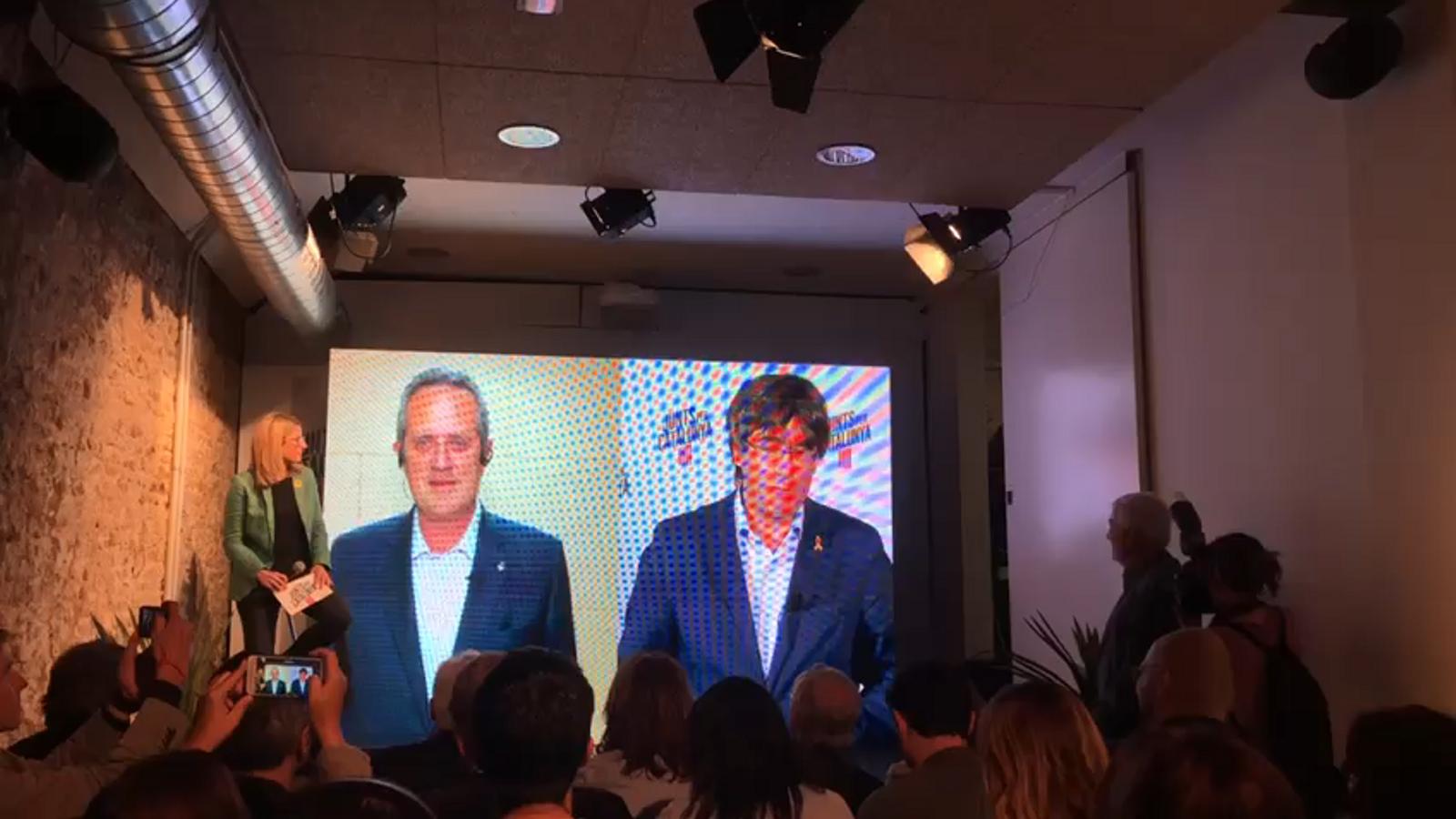 Puigdemont i Forn es retroben per videoconferència
