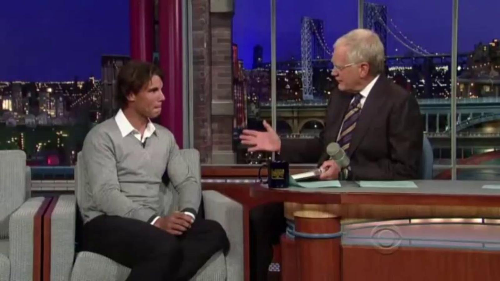 Rafa Nadal explica les diferències entre el castellà, el català i el mallorquí al 'show' de David Letterman
