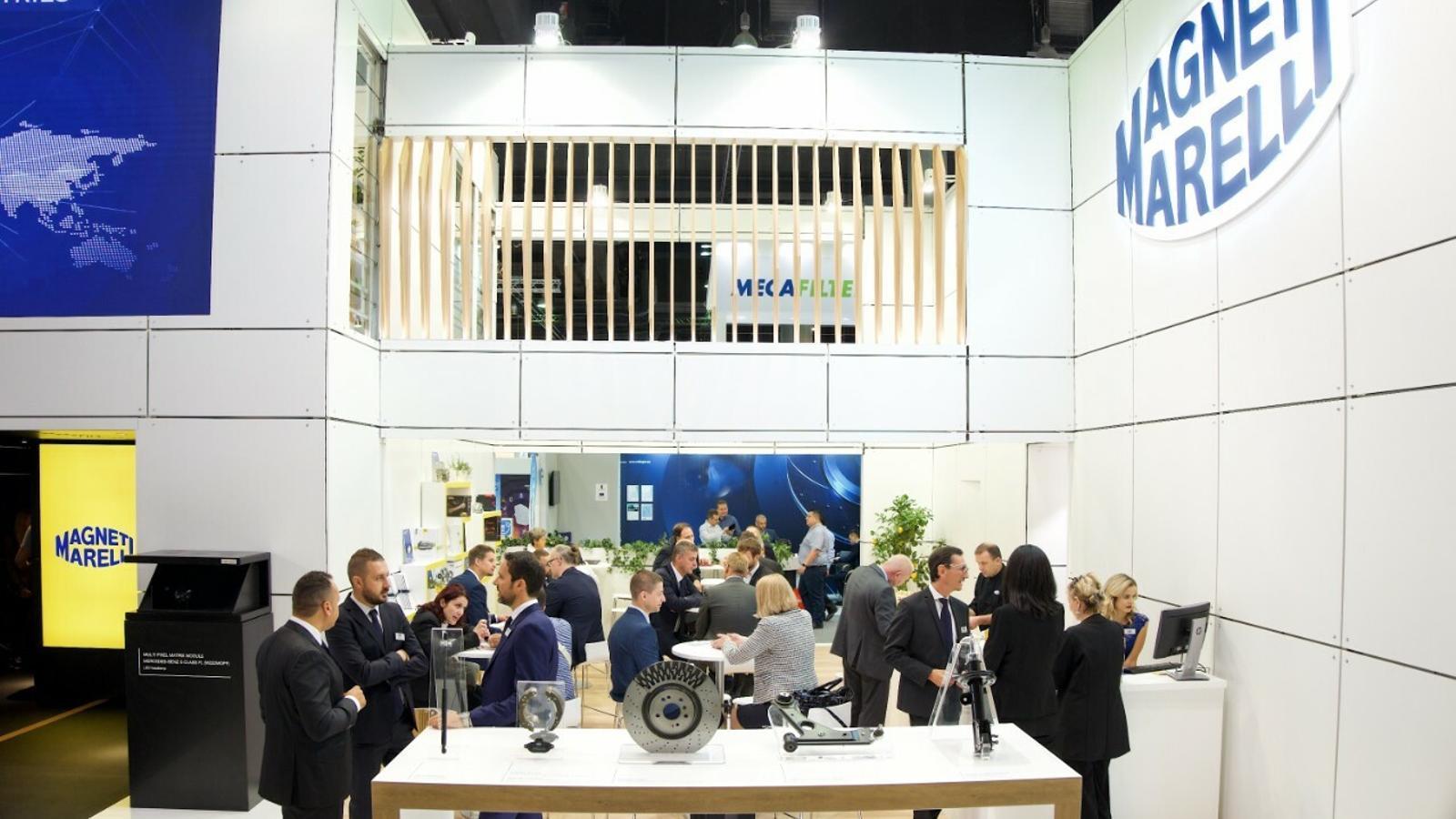 L'estand de Magneti Marelli en una fira a Frankfurt