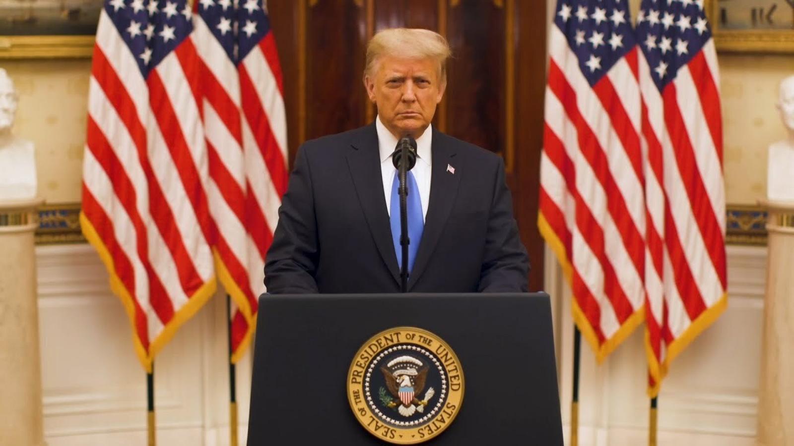 L'últim discurs de Donald Trump com a president