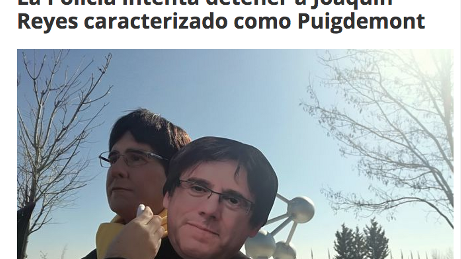 Foto de Joaquín Reyes disfressat de Puigdemont, publicada per 'Vertele'