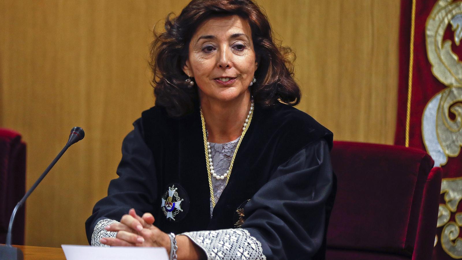 La magistrada Concepció Espejel després de la presa possessió com a presidenta de la Sala Penal de l'Audiència Nacional l'any 2017