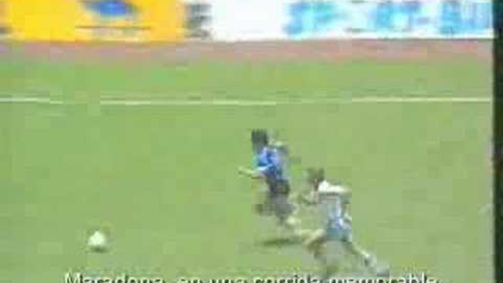 Gol de Maradona a la final de Mèxic 86 contra Anglaterra