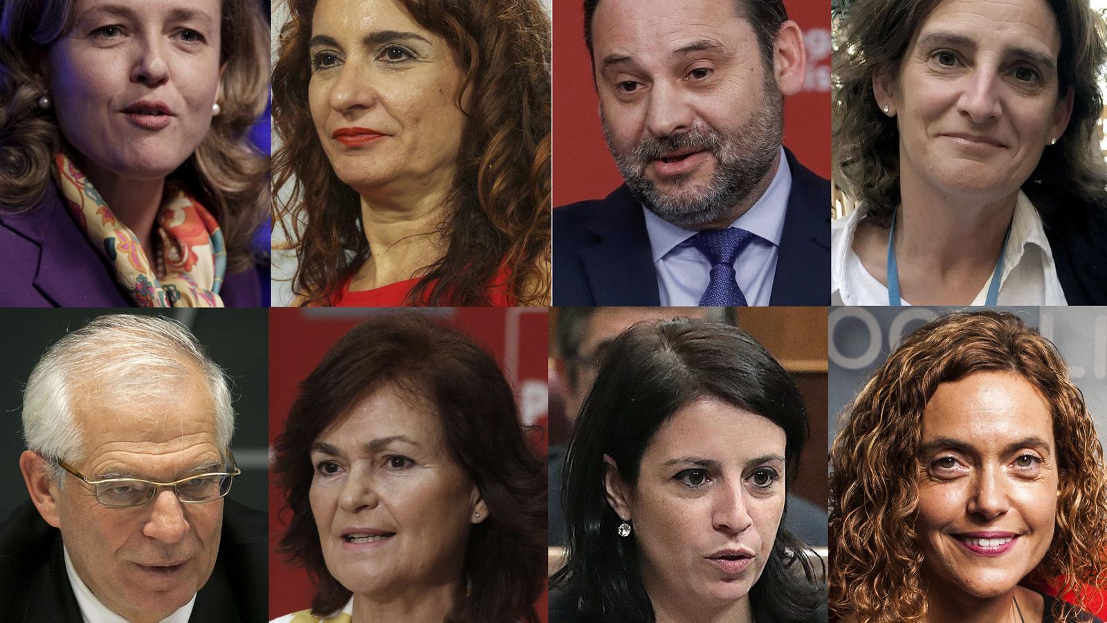 Montero, Calvo, Calviño i Ábalos: qui és qui al govern de Sánchez?
