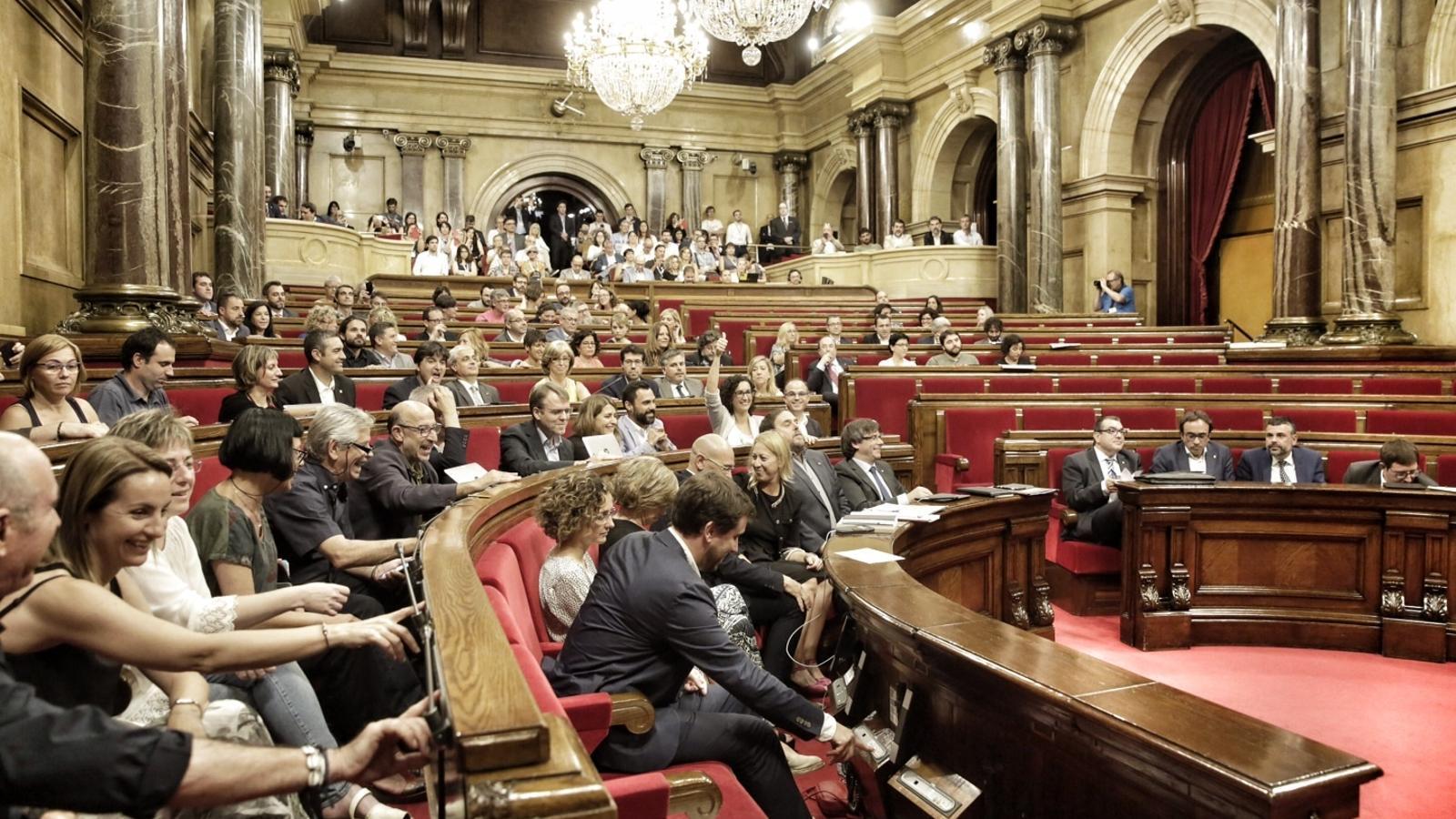 El Parlament, en el moment de votar les conclusions de la comissió del procés constituent