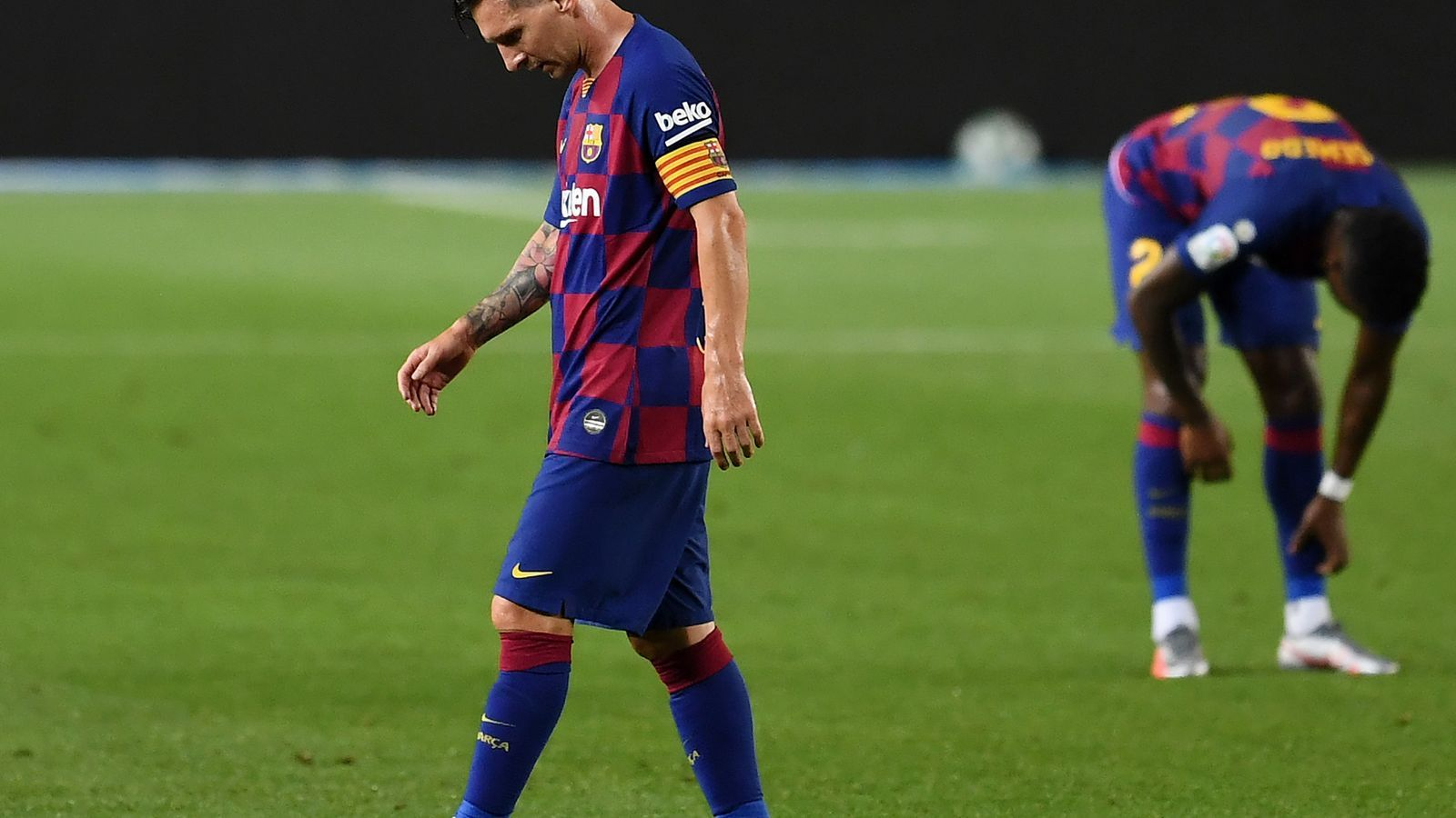 Leo Messi, després del segon gol de l'Atlètic de Madrid