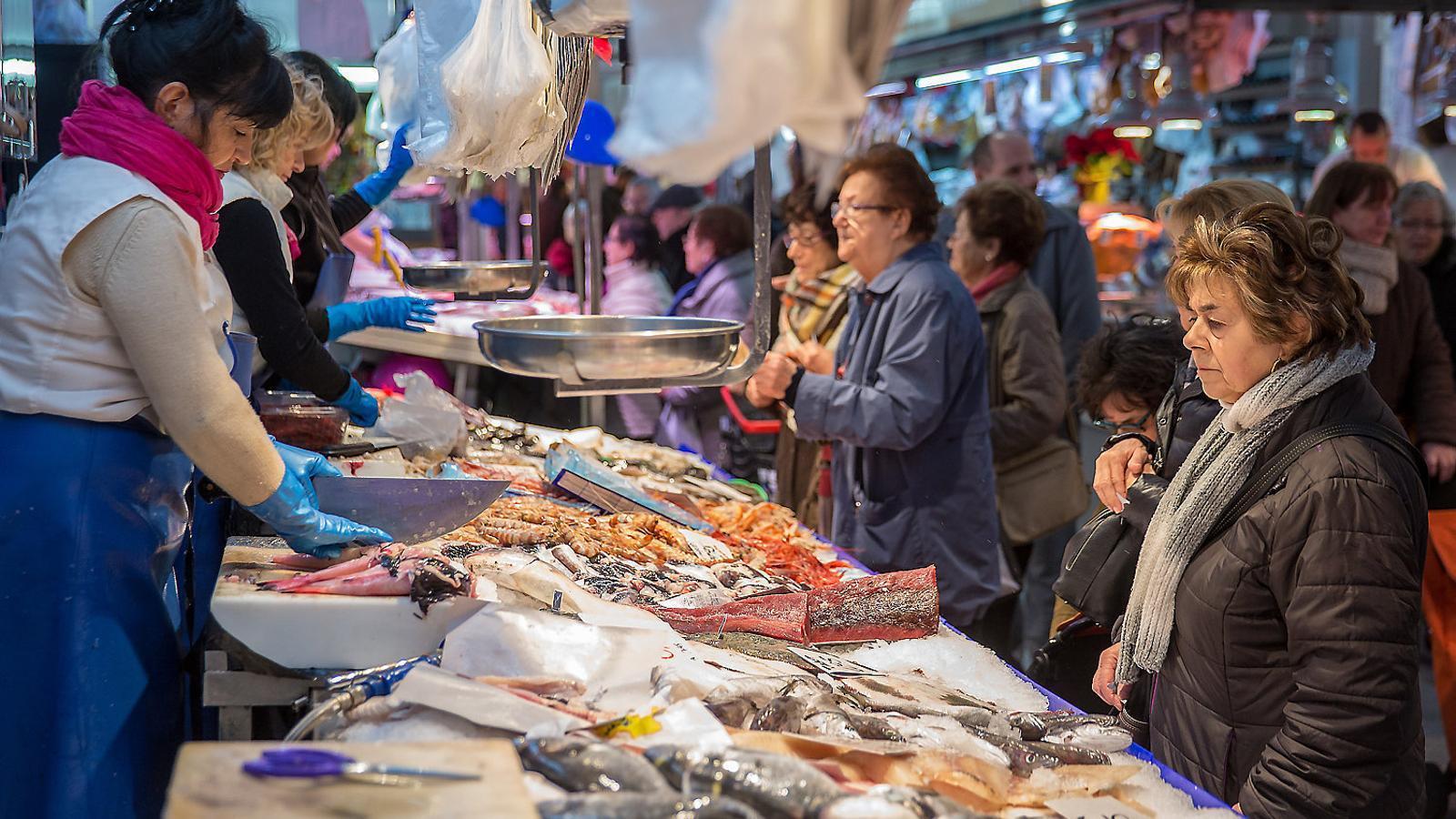 Peix i marisc més cars a les portes de Nadal