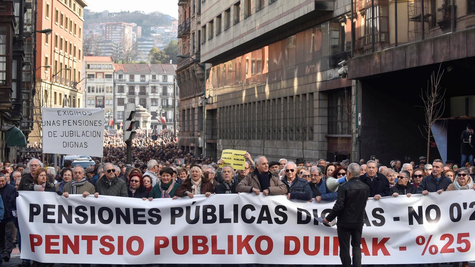 Imatge d'una de les protestes, a Bilbao.