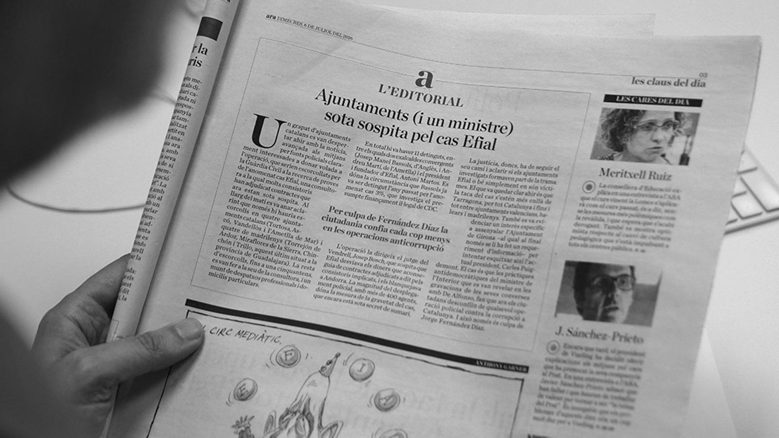L'anàlisi d'Antoni Bassas: 'Anticorrupció i antireputació'