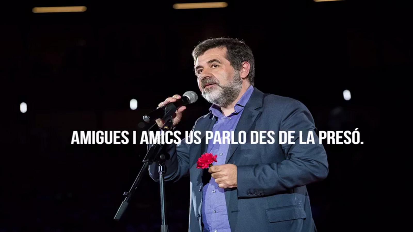Missatge de Jordi Sànchez des de la presó, per al míting central de Junts per Catalunya