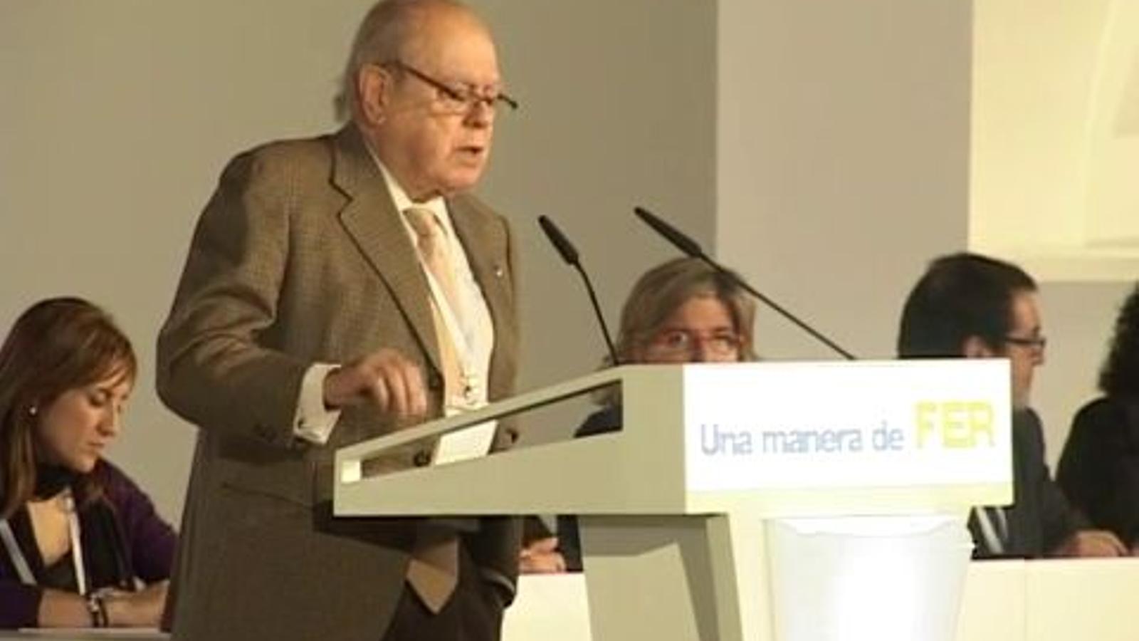 Pujol erigeix CiU en l'única força preparada per ser la tropa de xoc davant d'una confrontació amb Espanya