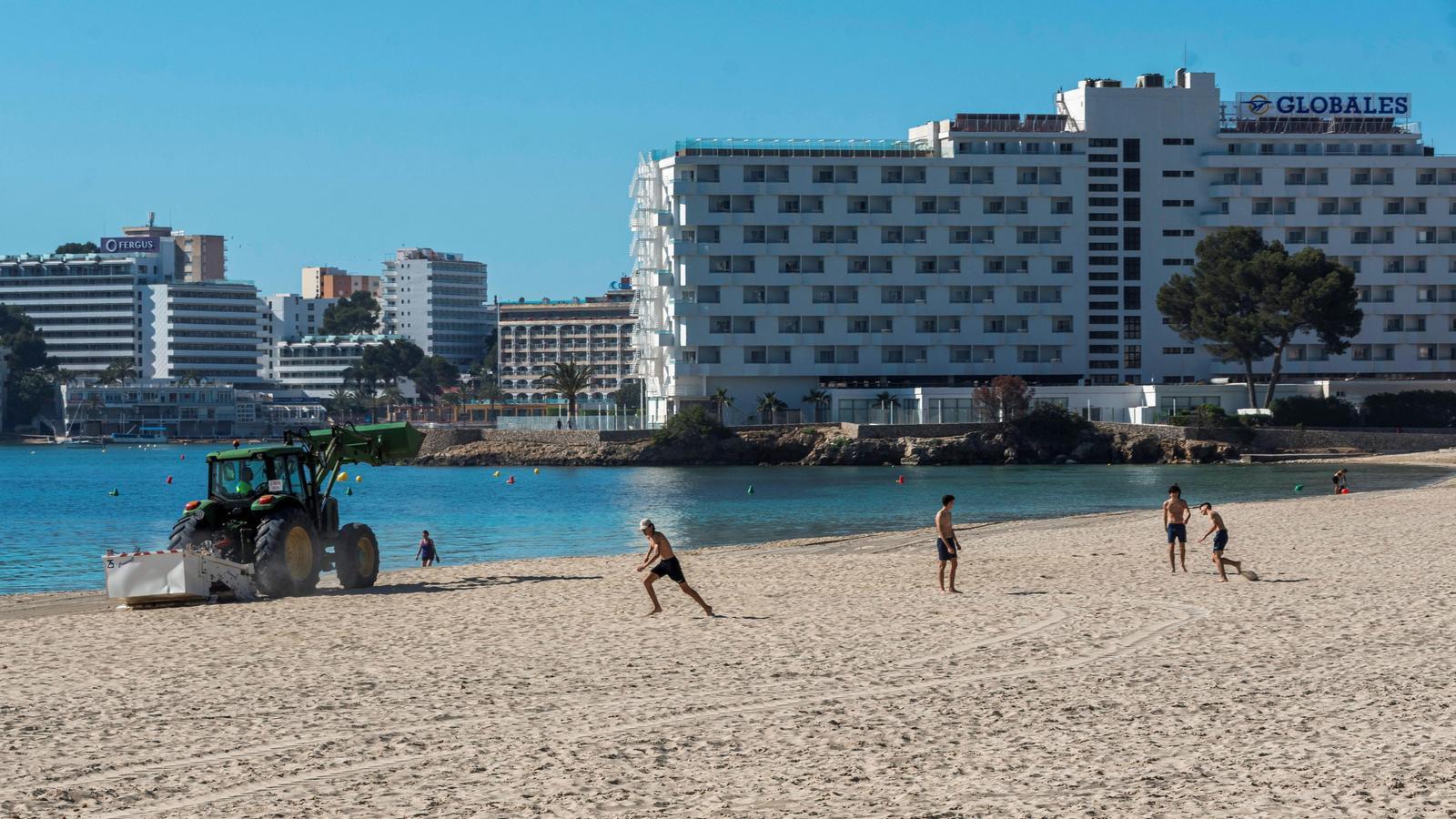 La platja de Son Matias, a Calvià, Mallorca, aquesta setmana