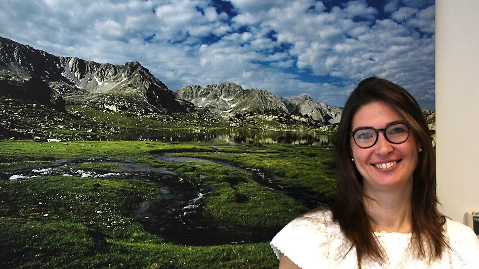 La directora del pla de gestió de la vall del Madriu-Perafita-Claror, Susanna Simon. / M. F. (ANA)
