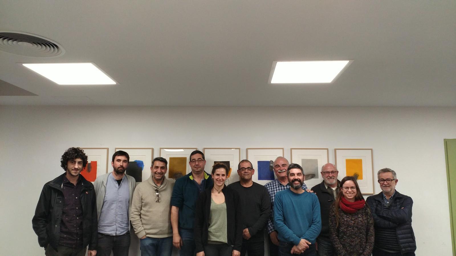 Una part dels membres constituients del nou col·lectiu d'investigadors.