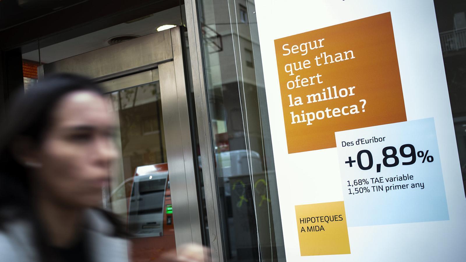 El 2021 les hipoteques ja no seran el producte estrella dels bancs espanyols.