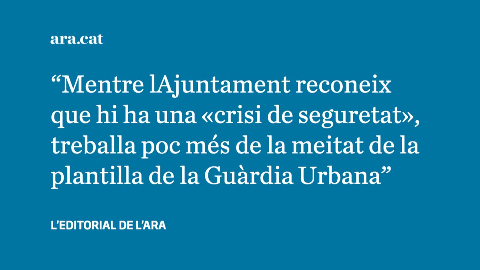 El 40% de la Guàrdia Urbana fa vacances quan més turistes hi ha a Barcelona