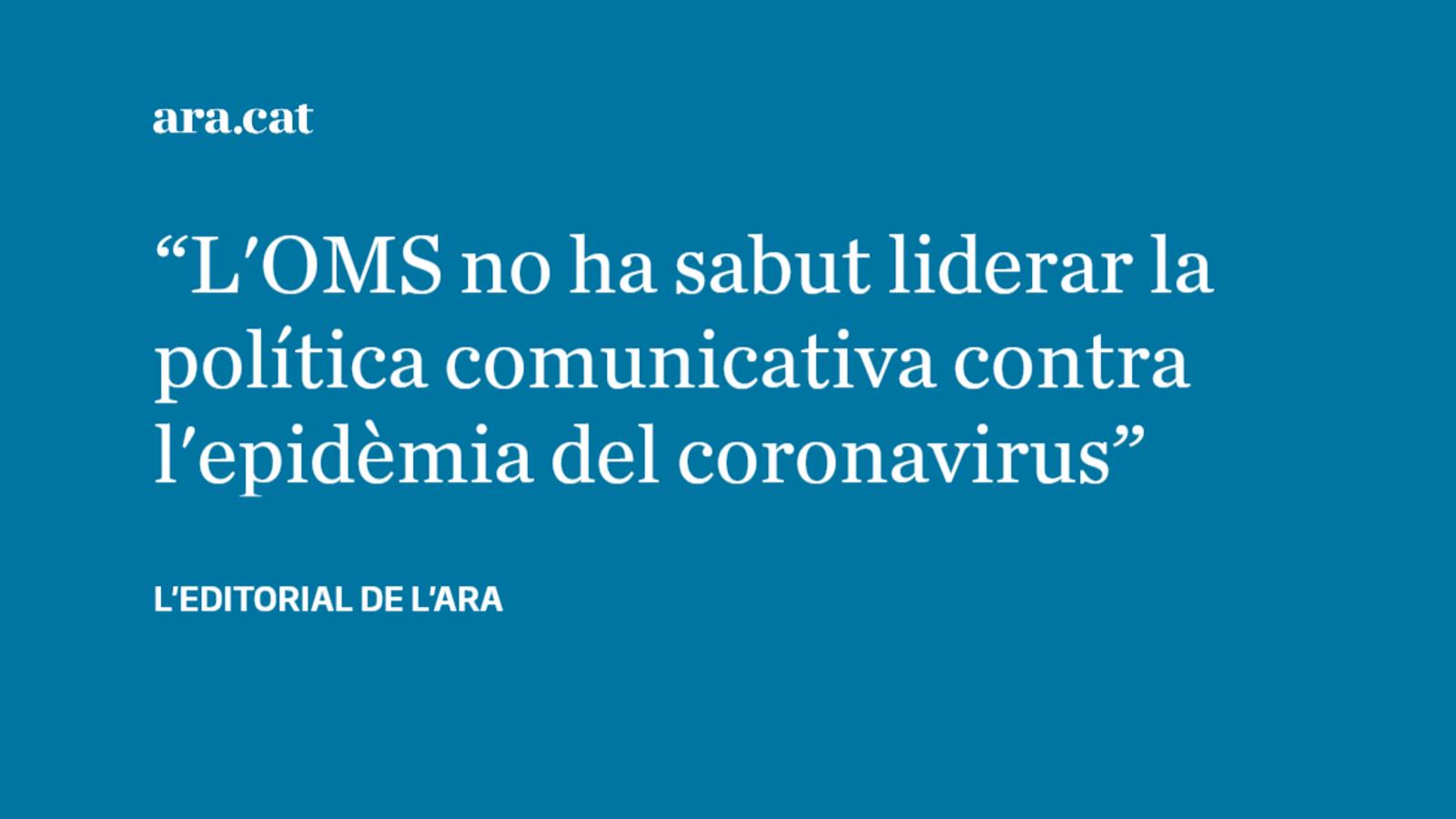 La crisi del coronavirus sacseja el món