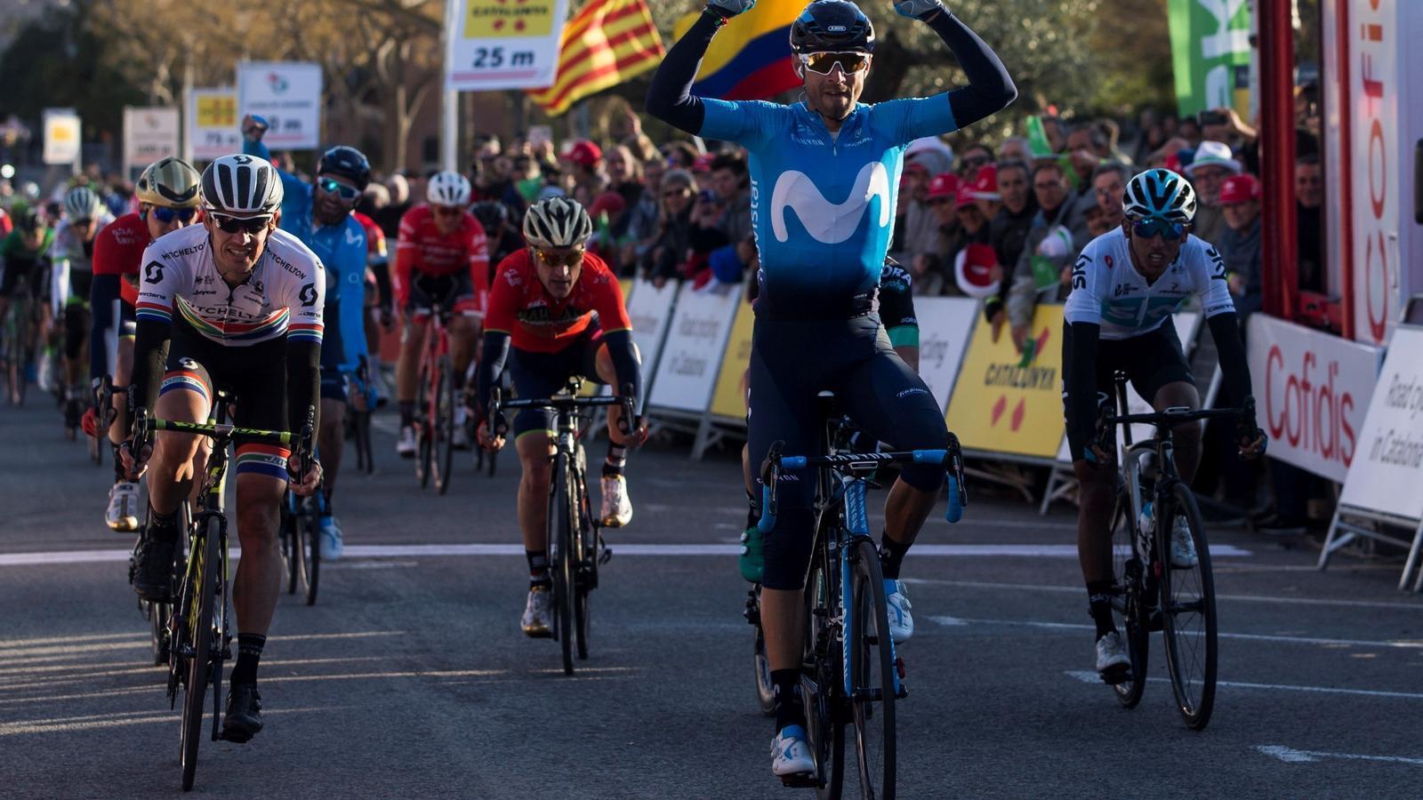Alejandro Valverde guanya a l'esprint en la segona etapa de la Volta