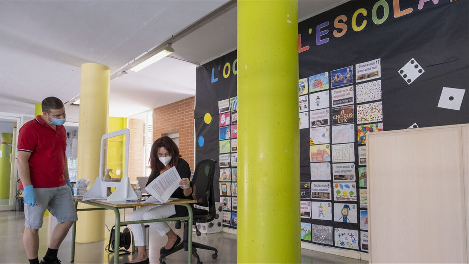 Imatge d'una escola, a l'inici de curs 2020-21. / MANOLO GARCIA