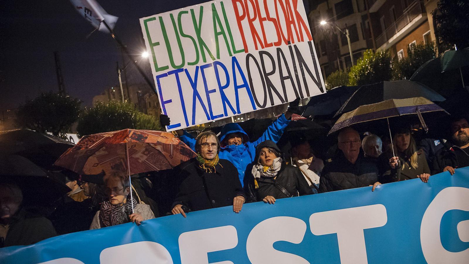 Manifestació a Euskadi per reclamar l'acostament de presos.