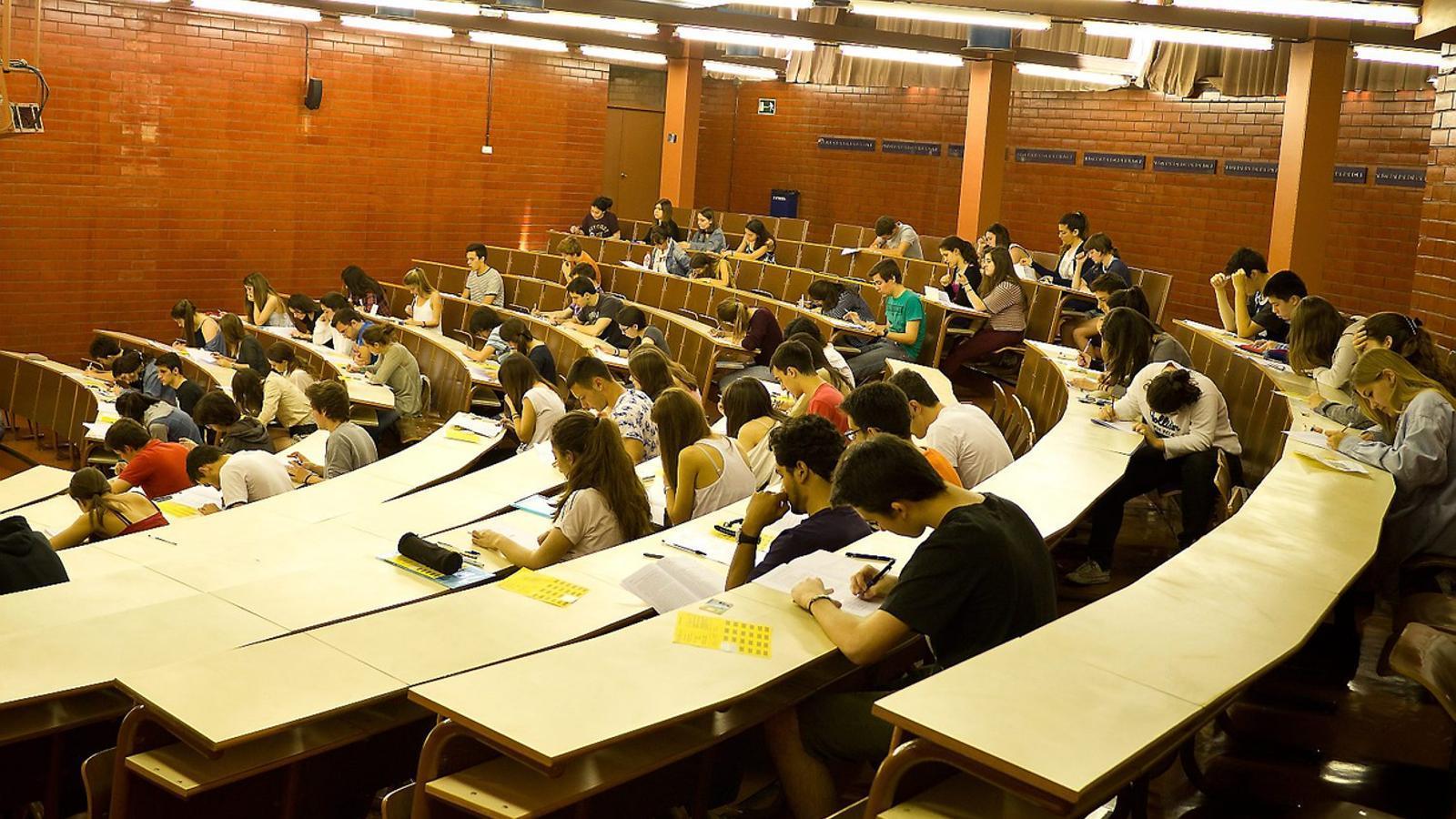 Les 5 universitats públiques valencianes fan aquesta setmana les proves d'accés a la universitat.