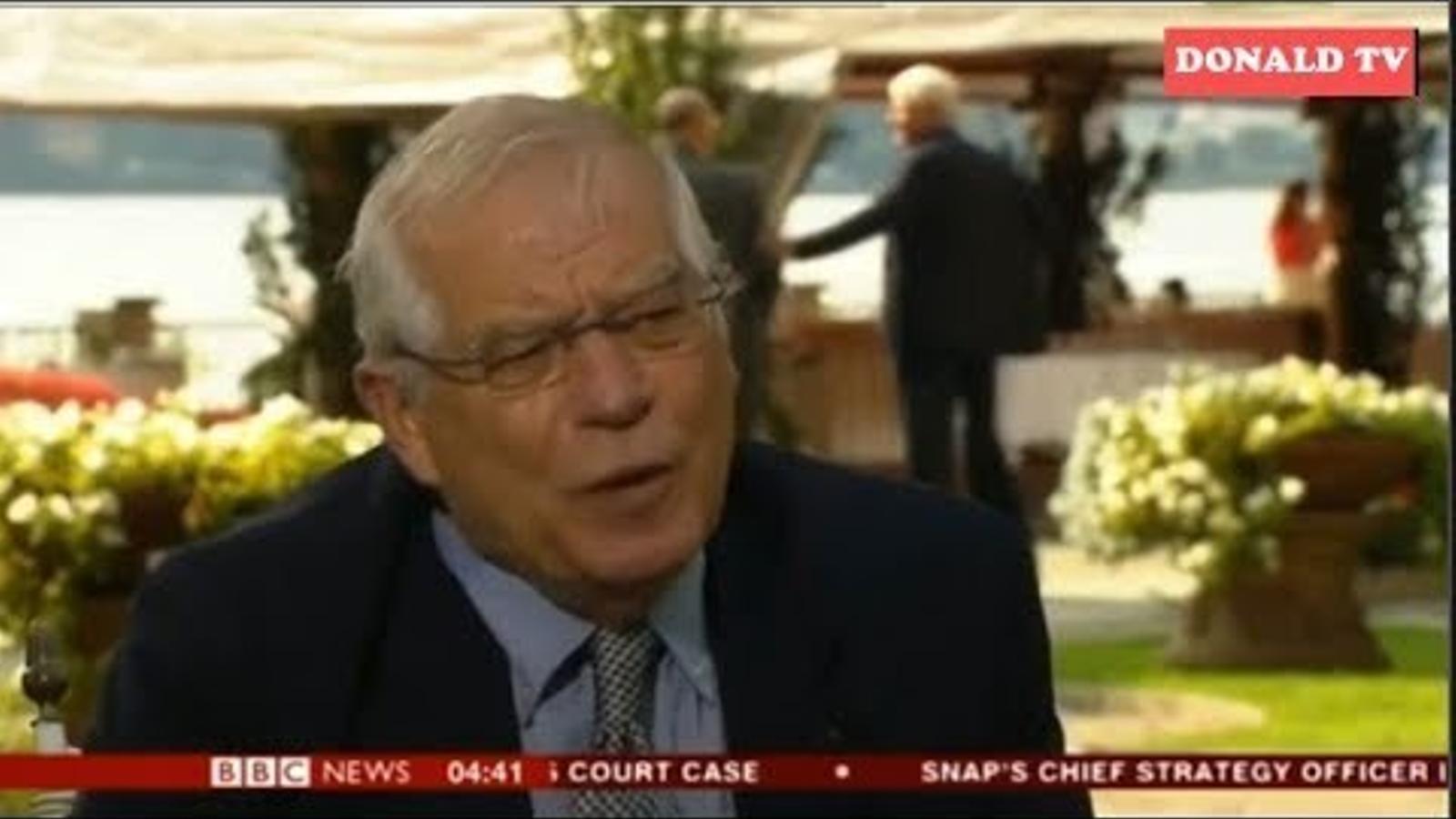 """Josep Borrell afirma que """"personalment"""" els presos polítics haurien d'estar fora de la presó"""