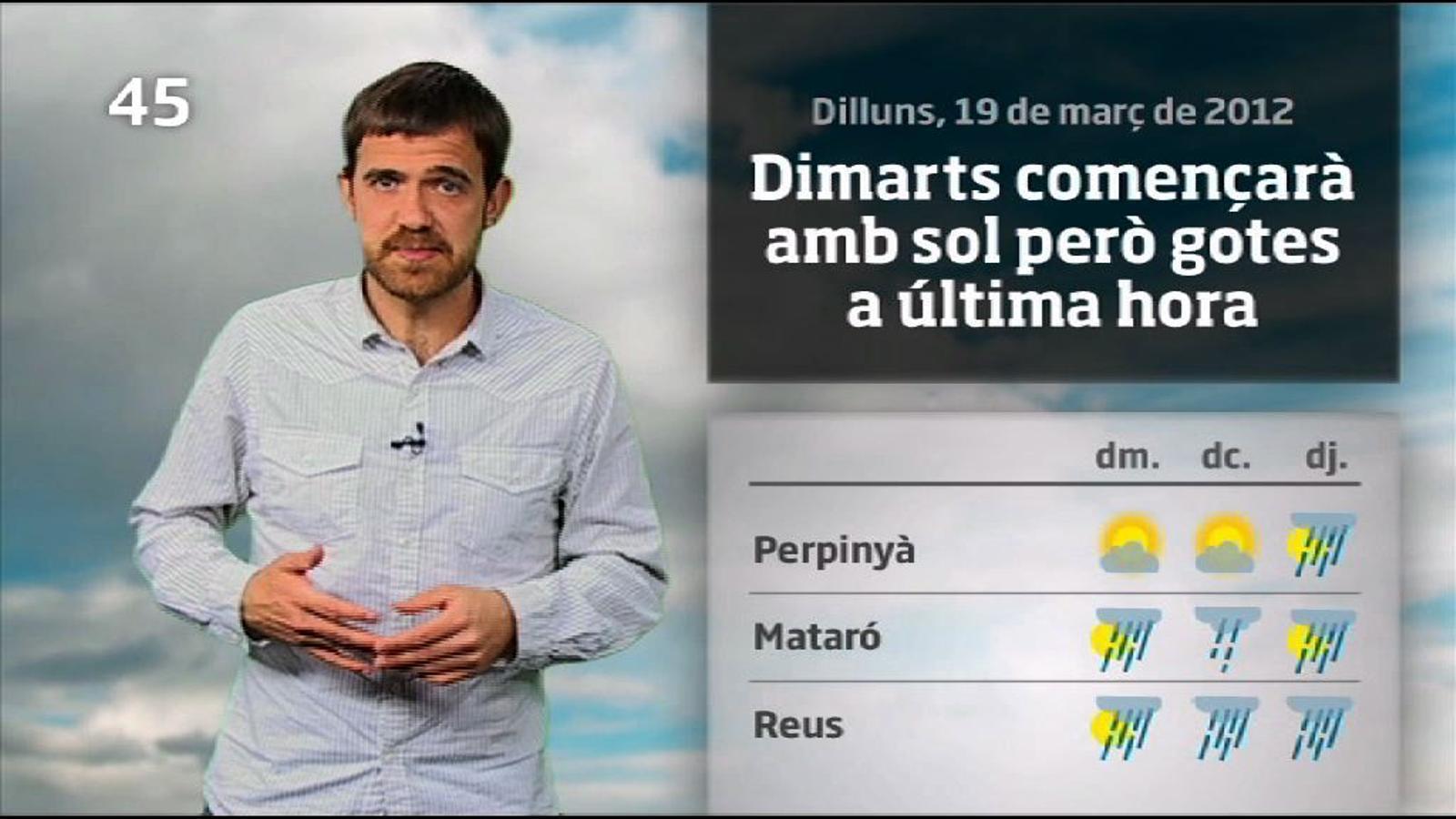 La méteo en 1 minut: la primavera comença amb xàfecs (20/03/2012)