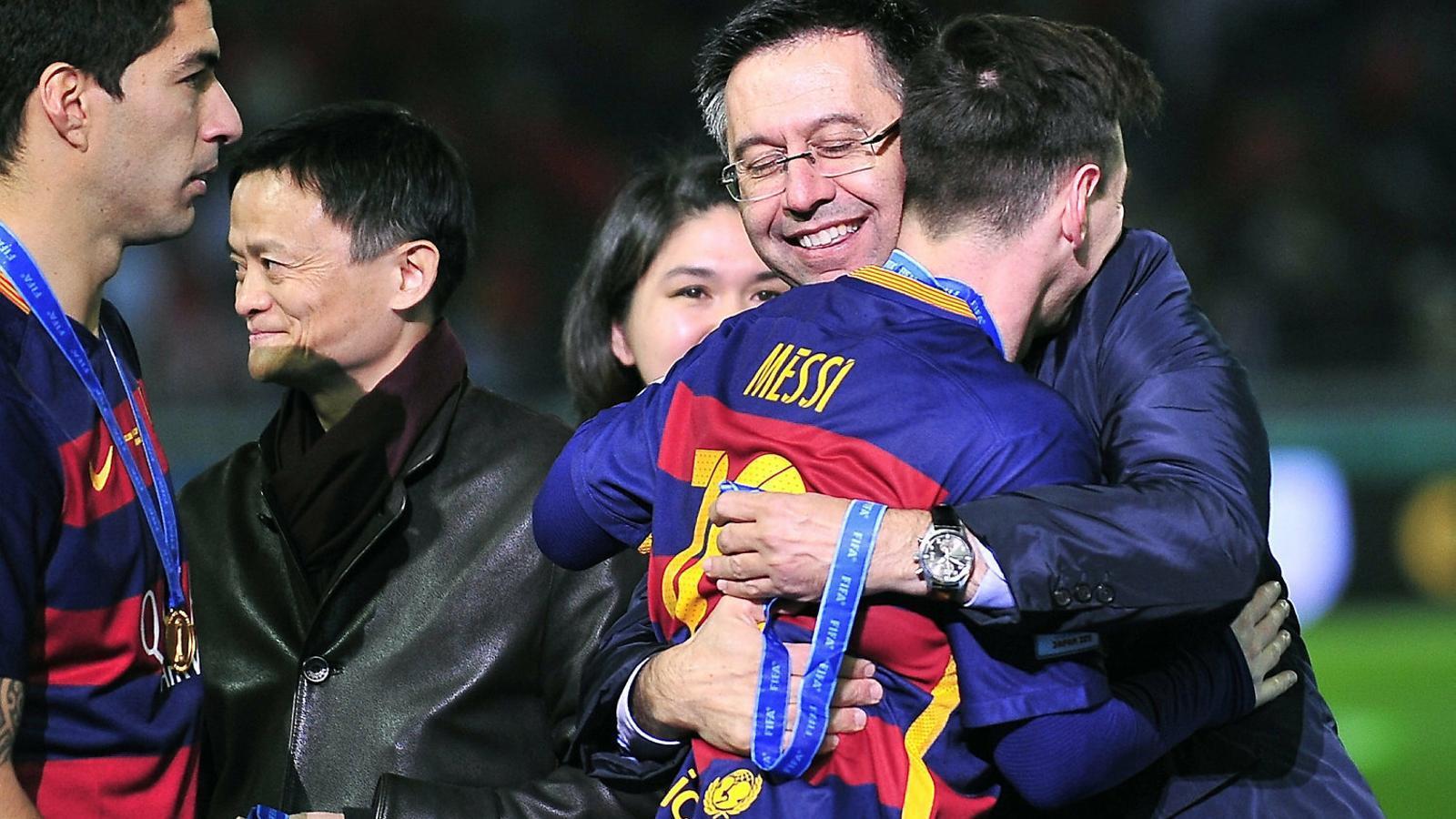 Messi i Bartomeu en una imatge d'arxiu.