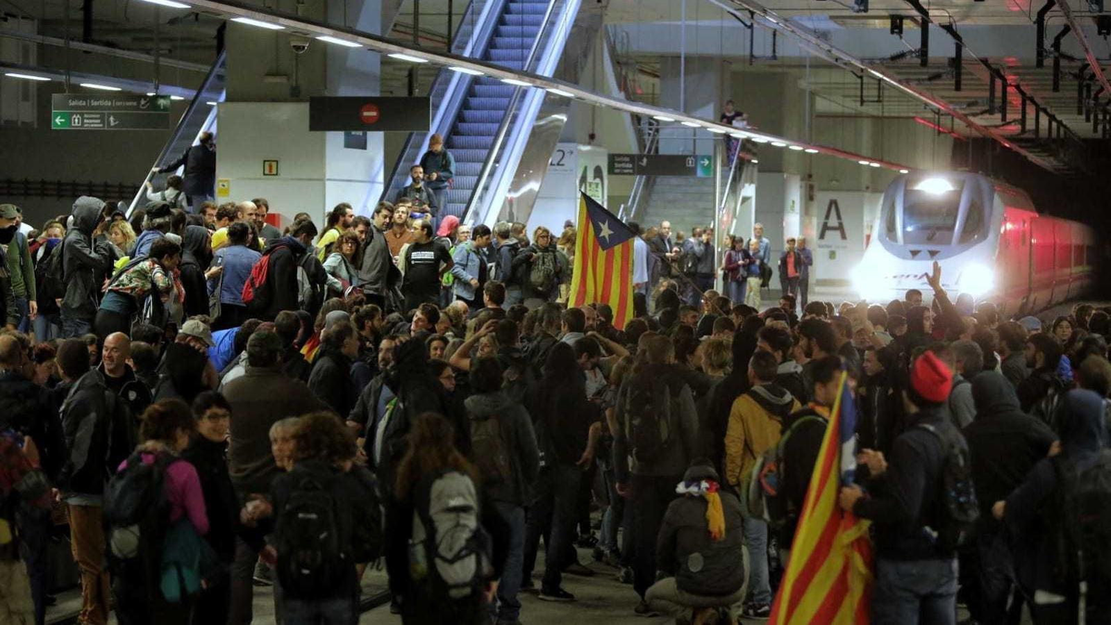 El CDR Nord-Oriental talla les vies de l'AVE a Girona