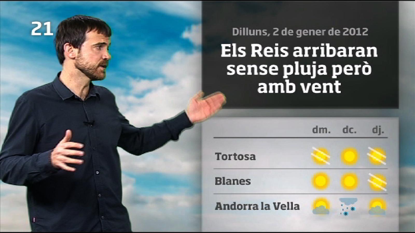 La méteo en 1 minut: setmana poc d'hivern i sense pluja (03/01/2012)
