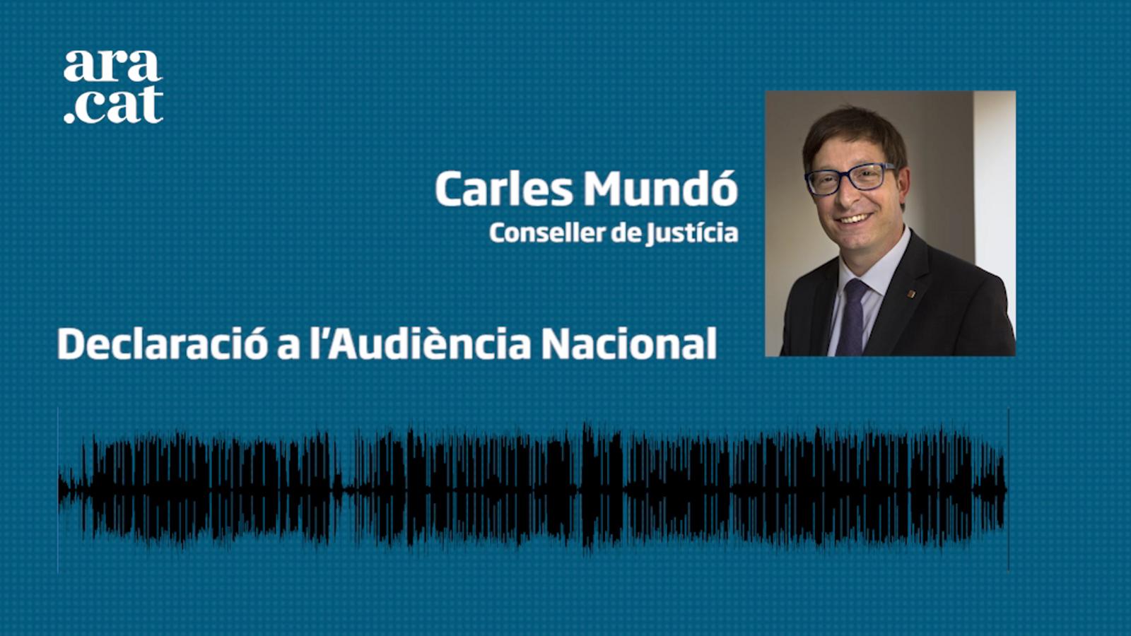 Carles Mundó declara a l'Audiència Nacional