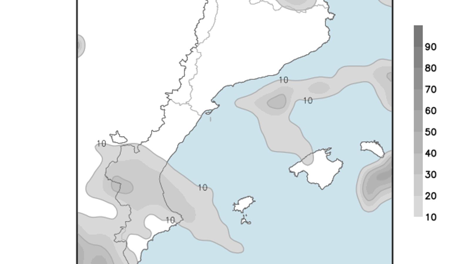 Temperatura en lleuger ascens i cel amb pocs niguls a les Balears