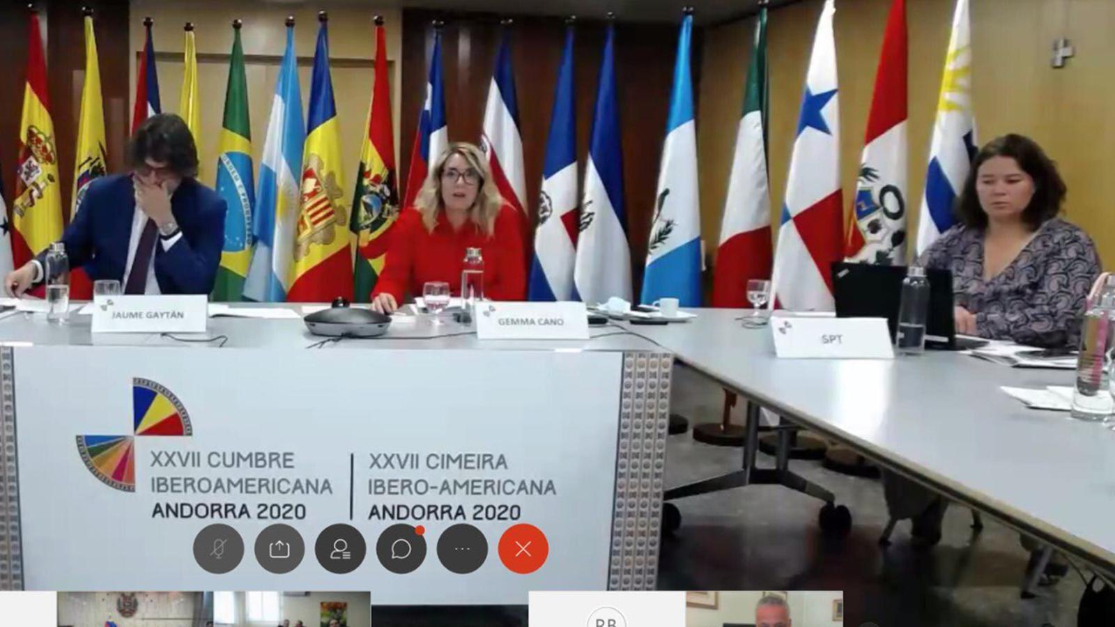 Un moment de la 3a reunió de coordinadors nacionals i de responsables de cooperació de la conferència iberoamericana