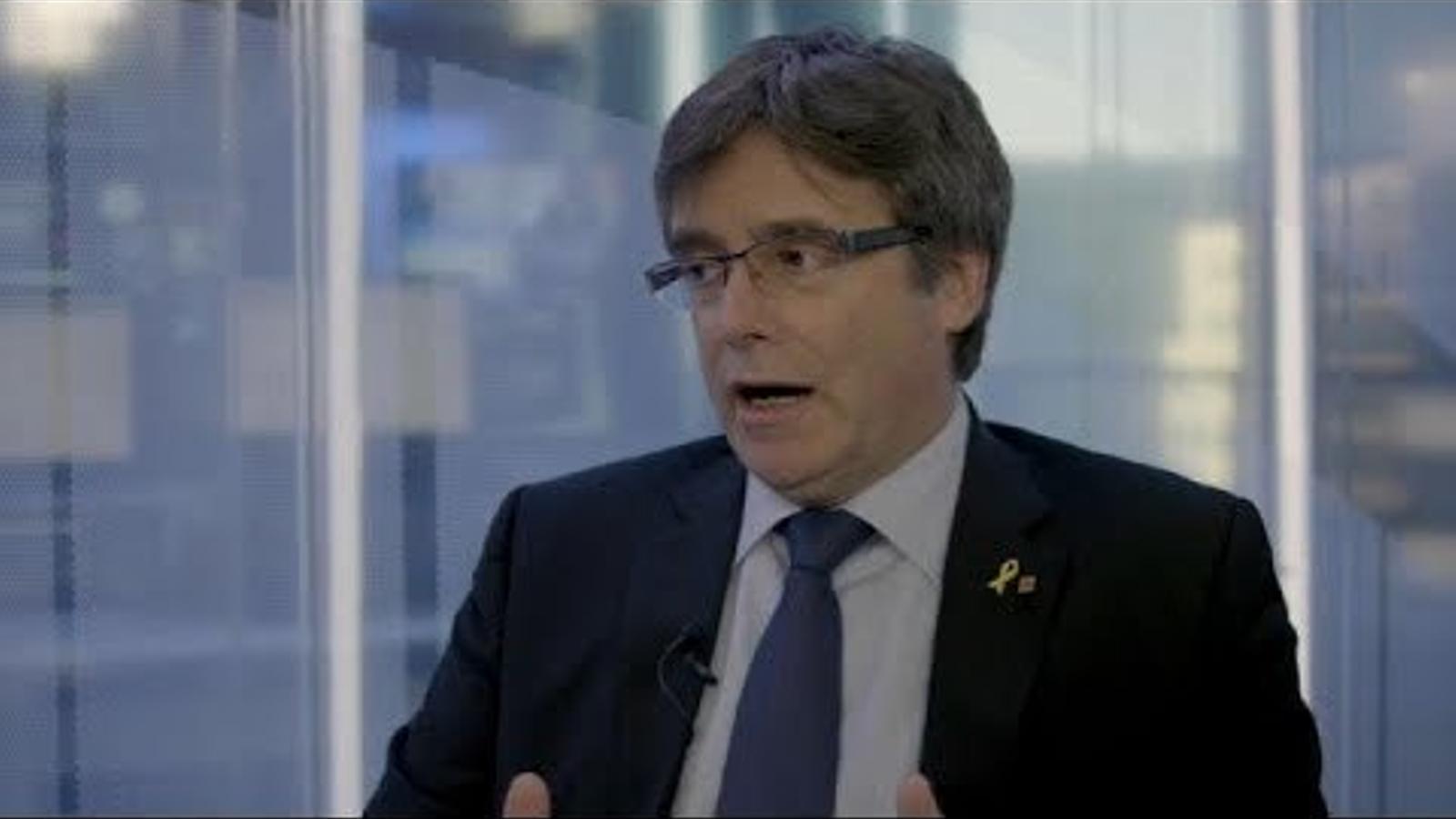 Puigdemont, entrevistat a Euronews